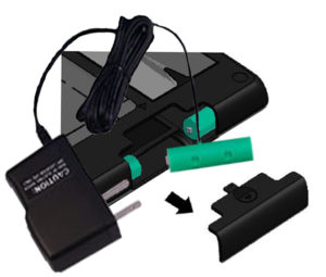 Flip-Pal AC Adapter battery insertion
