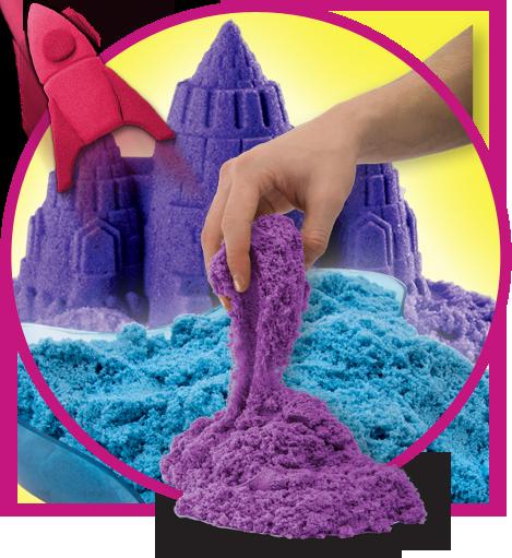 Kinetic Sand coloured